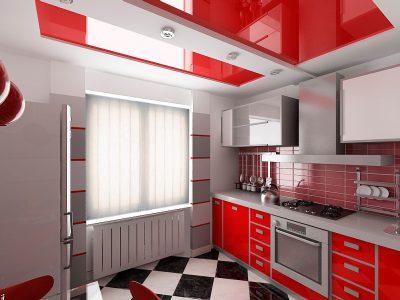 Красно-белый-потолок-1